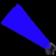 Luz azul para festas