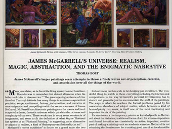 James McGarrell's Universe: Realism, Magic, Abstraction, and the Enigmatic Narrative.