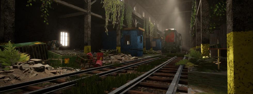 Abandoned Train Hangar