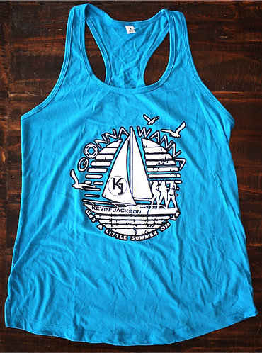 Gonna Wanna -Large - Blue Logo Tank Top