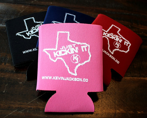 "NEW Just ""Kickin' It"" Koozies  Pink"