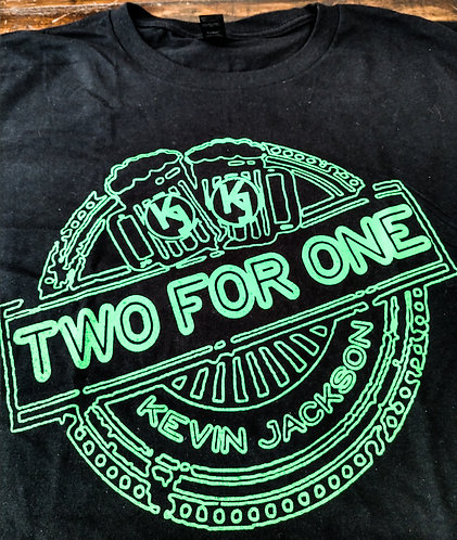 """""""Two For One"""" - SMALL - T-Shirt (Black)"""