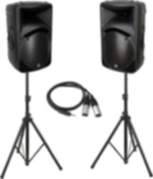 DIY DJ disco party speakers hire Gloucester