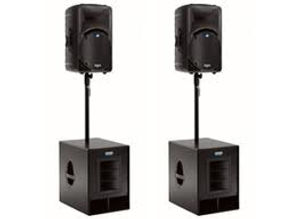 Leap Audio Band PA Speaker System Hire Gloucester
