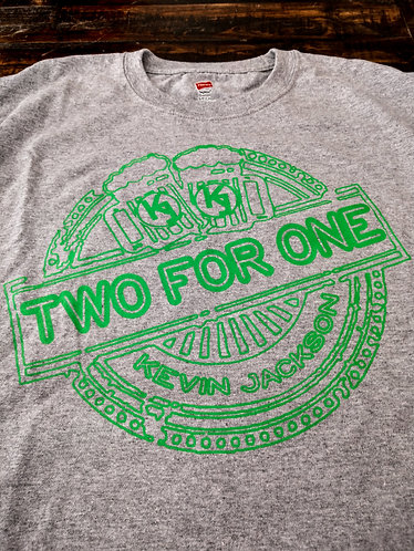 """Two For One"" - X-LARGE - T-Shirt (Grey)"