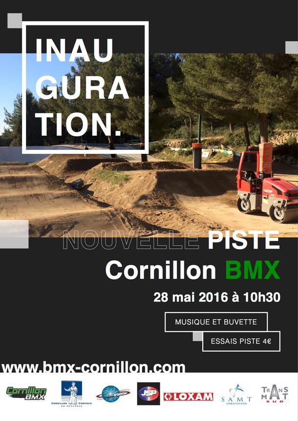 Inauguration nouvelle piste Cornillon