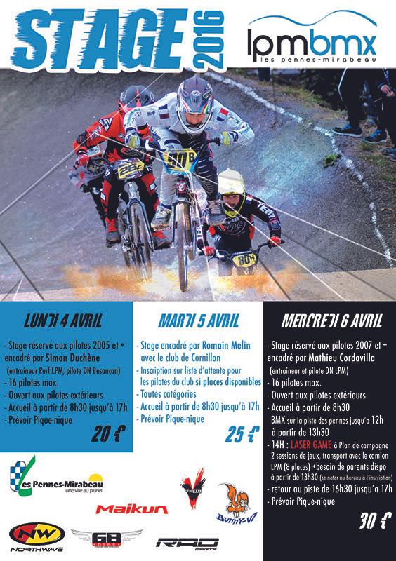 Stages BMX Vacances de Pâques