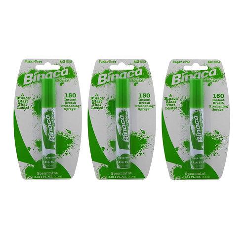Binaca Aerosol Breath Spray SpearMint 0.20 oz (Pack of 3)