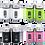 Thumbnail: JVLM HOME Premium Glass Salt and Pepper Shakers Dispensers Set (2 counts)