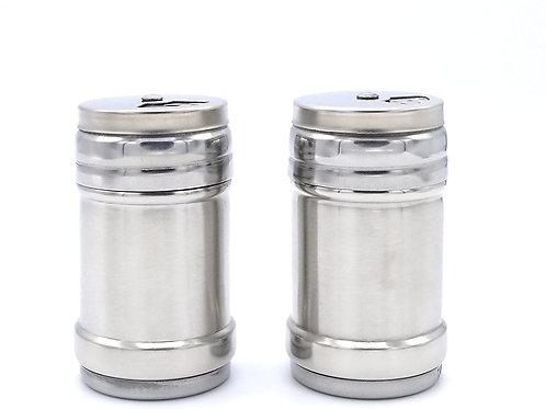 JVLM HOME Stainless Steel Salt & Pepper Spice Sugar Shakers set