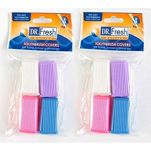 Dr. Fresh Toothbrush Covers, 4 covers per pack (2 Packs)