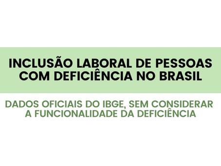 Inclusão laboral de pessoas com deficiência no Brasil.
