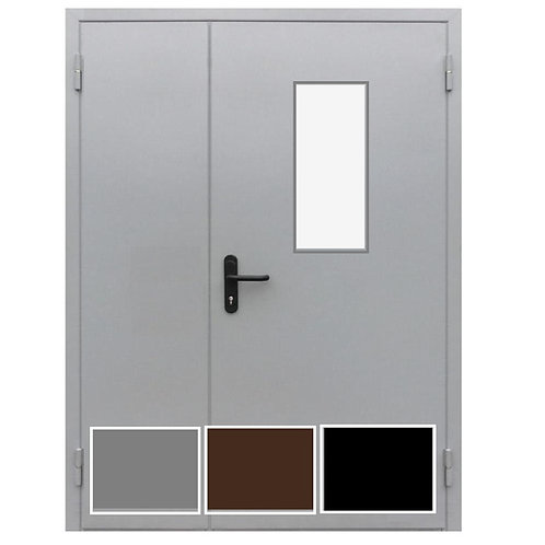 дверь противопожарная со стеклом