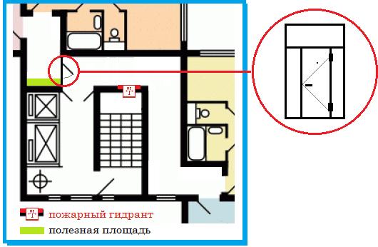 дверь на этаж