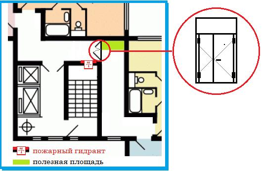 двустворчатая дверь п 44т