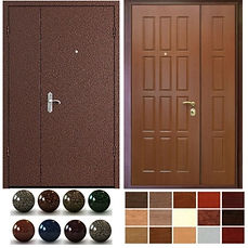тамбурные металлические входные двери  с установкой