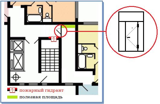 П-44т. перегородка на 2 квартиры.