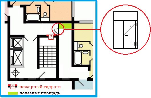 П-44т. Дверь на этаж на 2 квартиры.