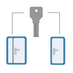ключ для тамбурной двери и двери на лесн