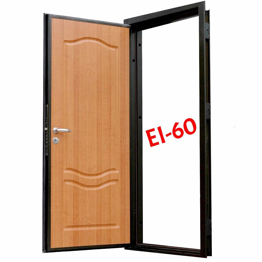 дверь противопожарная металлическая с мдф дпм 0160 Ei 60