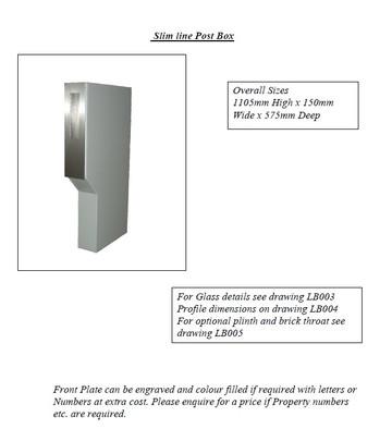 Slim sline Post Box