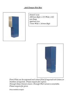 Anti-Tamper Post box