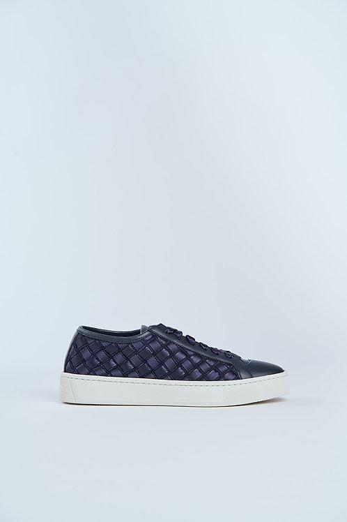 SANTONI geflochtener Sneaker