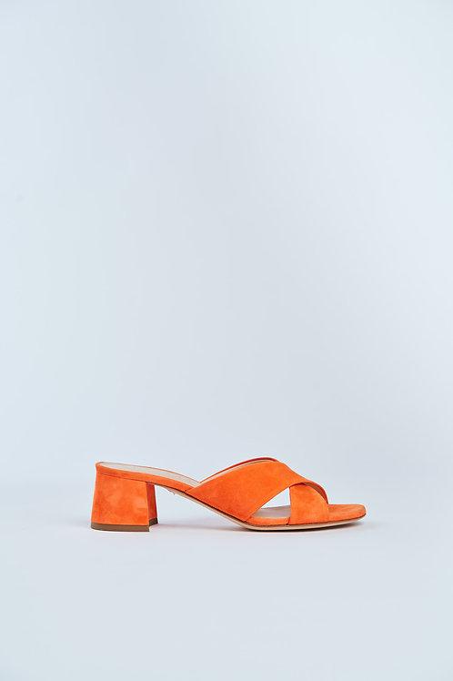 UNÜTZER Sandalen mit Absatz aus Veloursleder
