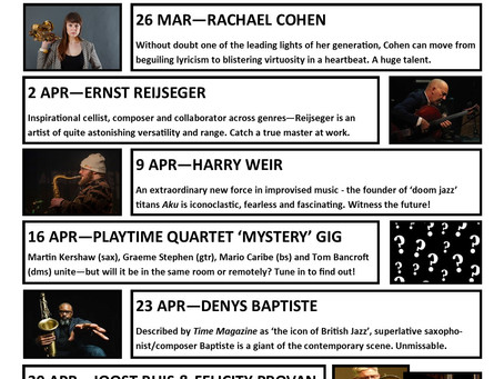 New March-April Programme