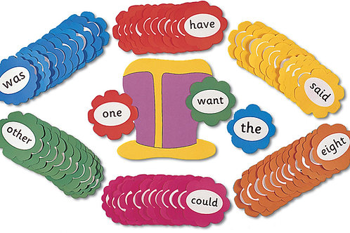 Jolly Phonics Tricky Word Wall Flowers (US / in print letters)