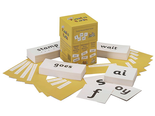 Jolly Phonics Cards (4 sets of cards in a box) (US / in print letters)