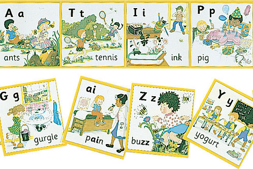 Jolly Phonics Wall Frieze (US / in print letters)