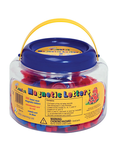 Jolly Phonics Magnetic Letters (tub of 106 precursive letters)