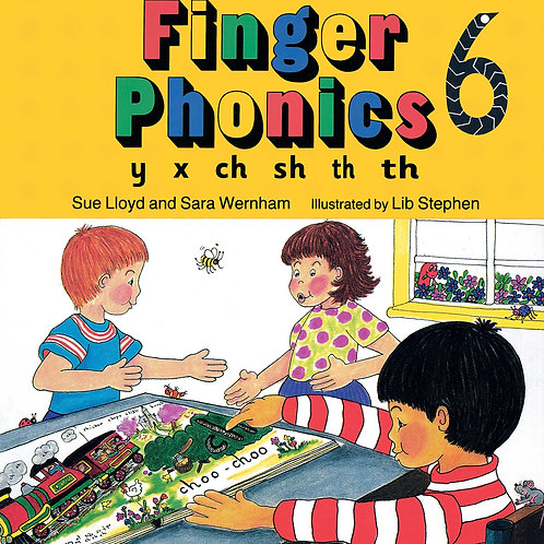 Finger Phonics Book 6  (US / in print letters)