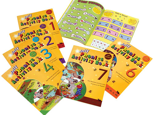 Jolly Phonics Activity Books 1~7 Set (in print letters)