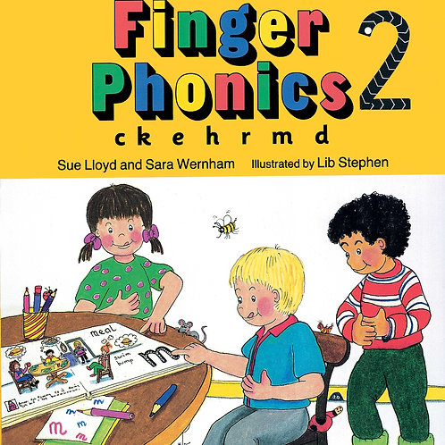 Finger Phonics Book 2 (US / in print letters)