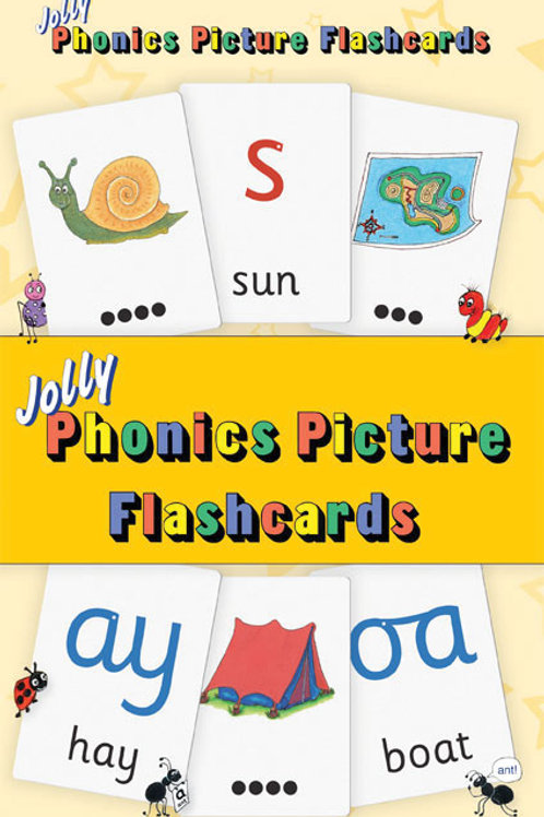 Jolly Phonics Picture Flash Cards (US / in print letters)