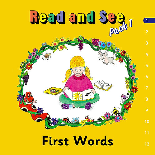 Jolly Phonics Read & See, Pack 1 (in print letters)