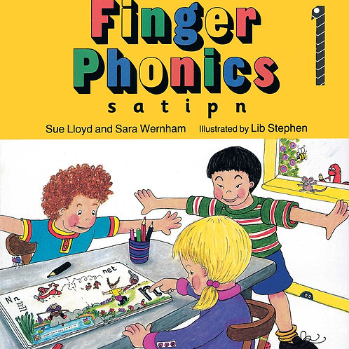 Finger Phonics Book 1 (US / in print letters)