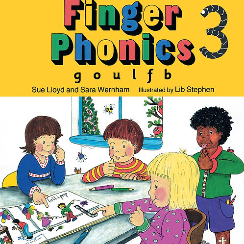 Finger Phonics Book 3 (US / in print letters)