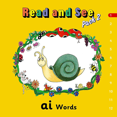 Jolly Phonics Read & See, Pack 2 (in print letters)