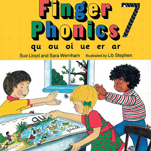 Finger Phonics Book 7 (US / in print letters)