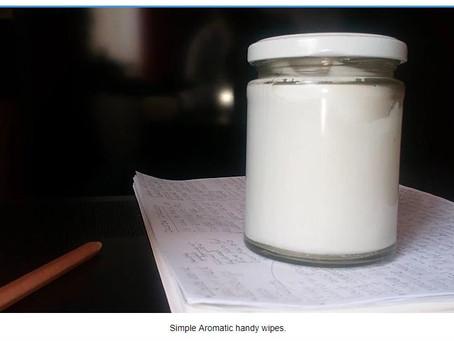 Handy aromatic wipes
