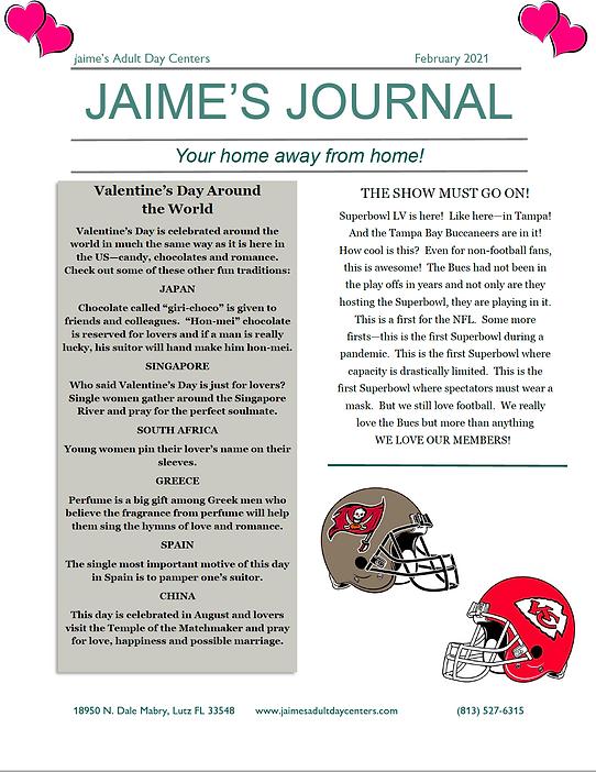 newsletter Feb 2021