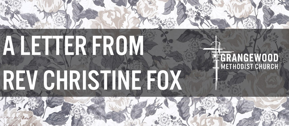 A letter from Rev Christine Fox