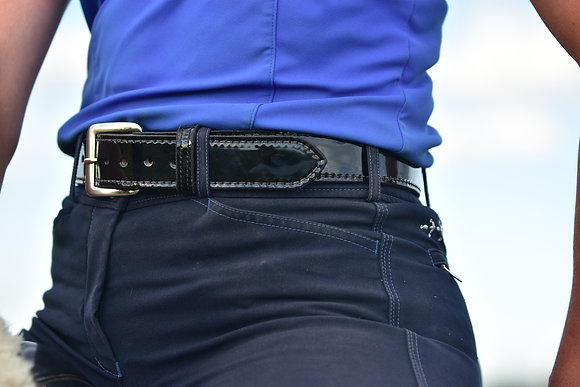 Black Patent Leather  Belts