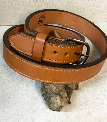 "42"" Tan English Bridle Leather Belt"