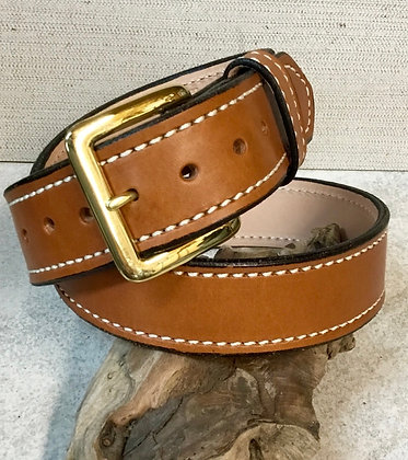 "32"" Tan English Bridle Leather Belt"