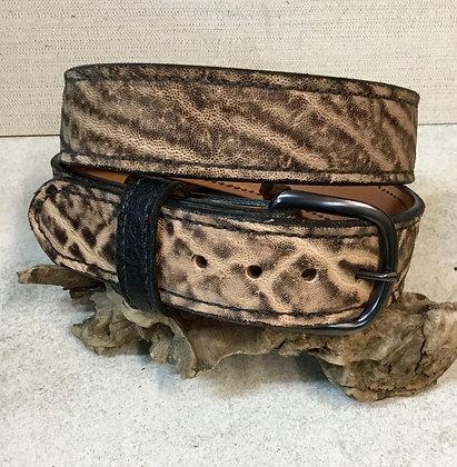 """40"""" Vintage Peat Elephant Leather Belt"""