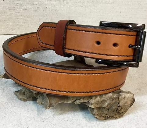 "38"" Heavy Weight Tan English Bridle Leather Belt"